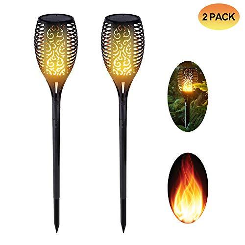 Spardar Luz Solar antorcha Jardín Parpadeante Luz de Llama 96 Led (2)