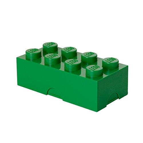 LEGO Brotdose mit 8 Noppen, Kleine Aufbewahrungsbox, Stiftebox, grün