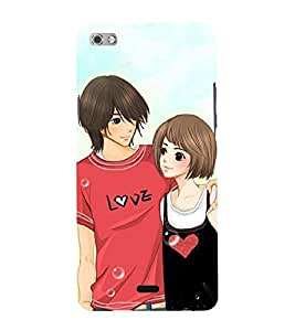 Love Couple 3D Hard Polycarbonate Designer Back Case Cover for Micromax Canvas Sliver 5 Q450