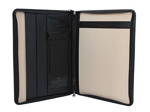 Mala en cuir Zip TORO Collection Autour CONFéRENCIER en cuir 5100_68 Tan noir