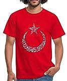 Spreadshirt Türk Ay Yildiz Arabic Männer T-Shirt, 3XL, Rot