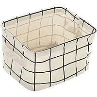 Preisvergleich für hunpta Aufbewahrungskorb, Faltbar Lagerplatz Closet Spielzeug Box Container Organizer Stoff Korb weiß
