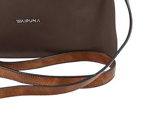Waipuna, Borsa tote donna beige camel / camel brown / braun