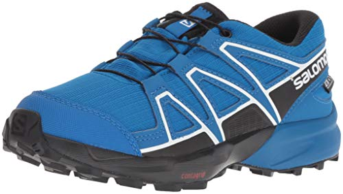 Salomon Speedcross CSWP J, Scarpe da Trail Running Unisex-Bambini, Viola (Grape Juice/Evening Blue/Bluebird 000), 35 EU