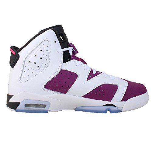 Nike Air Jordan 6 Retro Gg, Chaussures de Running Entrainement Fille White/Grape