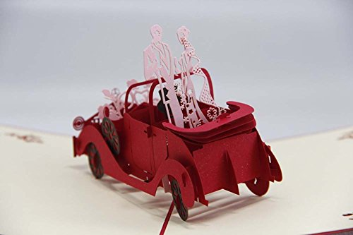 made4u-wedding-limousine-kirigami-papercraft-3d-pop-up-card-anniversary-baby-birthday-easter-hallowe