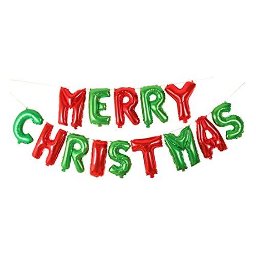 Basico Weihnachtsfeierdekorationen & Zubehör Weihnachtsbrief-Ballons Frohe Weihnachten-Brief Folienballon Kinder Spielzeug