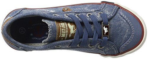Mustang Unisex-Kinder 5803-314-8 Low-Top Blau (8 Blau)