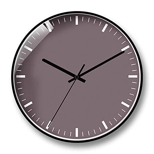 LYJZH Wanduhr Vintage Wanduhr Lautlos Wanduhr Dekorative für Küche Wohnzimmer Schlafzimmer Kreative runde Uhr stumm G Geheimnis schwarz 14 Zoll