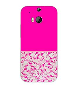 MiiCreations Pink Pattern 3D Printed Hard Back Cover for HTC One M8