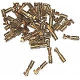 Enfield County 50unidades cobre 4x 17,3mm Female Bullet Conector Crimp Terminal DIY taller