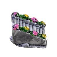 Wimagic 1x Miniature Resin Stone Ladder Ornament Moss Micro Landscape Fairy Garden Decoration DIY Accessories for Dollhouse Desktop Home Decoration