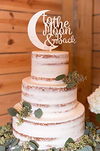 Tobti6ob Zum Mond und zur¨¹ck Cake Topper Hochzeitsdekorationen Lieben Sie zum Mond zur¨¹ck Cake Topper Hochzeits-Tischdekor-Empfang
