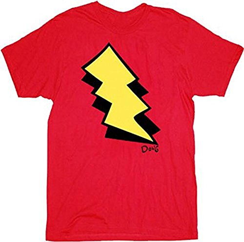 Doug I am Skeeter Lightning Bolt rot Erwachsene Kostüm T-Shirt (XXX-Large)