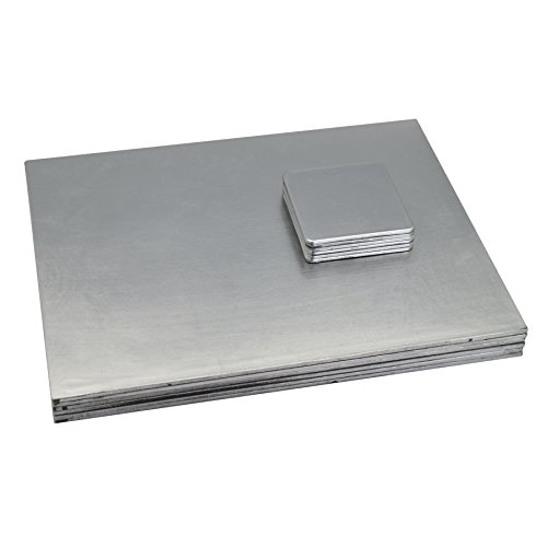 Argon Arts de la Table carrée napperons de Table/Boissons sous-Verres - Argent - Lot de 12