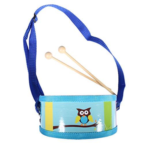 gazechimp-mini-tambour-bois-double-face-hit-drum-instrument-de-percussion-jouet-avec-pilons