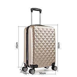 Acheter Valise 55 cm trolley cabine ABS bagage... en ligne