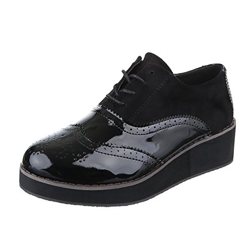 Ital-Design , Chaussures à lacets femme Schwarz