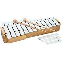 Goldon11150Alt-Metallophon mit 13 + 3 Metallplatten, Weiß