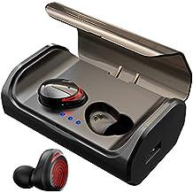 HolyHigh Auriculares Bluetooth 5.0 con 3000mAh Estuche de Carga CVC8.0 Cascos Bluetooth Inalámbricos Impermeable