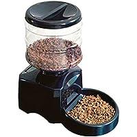 WANGHHH Alimentador Automático De Mascotas De 5,5 litros con Grabación De Mensajes De Voz Y Gran Perro Inteligente con Pantalla LCD