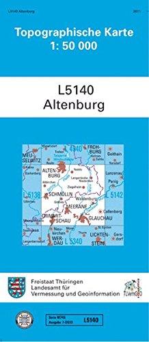 Altenburg: L 5140 (Topographische Karten 1:50000 (TK 50) Thüringen (amtlich))