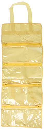Parodi & Parodi Travel Beauty Case Porte Accessoires Voyage, Polypropylène, jaune, 16 x 21 x 1 cm