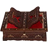 Beautifully Hand Carved High Quality Foldable Holy Book Stand And Box Book Stand And Box For Quran,Bible,Gita,Ved,Guru Granth Sahib