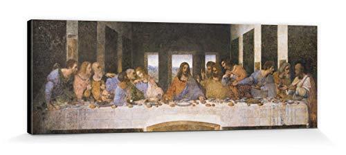 1art1 88374 Leonardo Da Vinci - Das Letzte Abendmahl, 1494-1499 Leinwandbild Auf Keilrahmen 150 x 50 cm