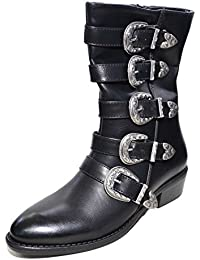 Calzature & Accessori gotici neri con punta rotonda per donna Grinders
