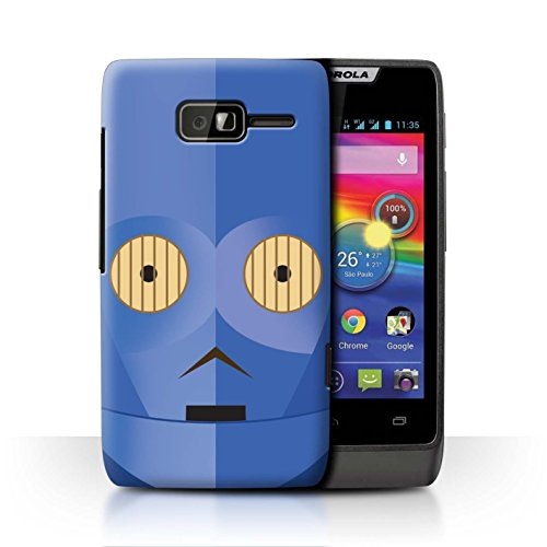 Stuff4® Hülle/Case für Motorola RAZR D1 / Blaue C-Serie Muster/Protokoll Droide Kollektion -
