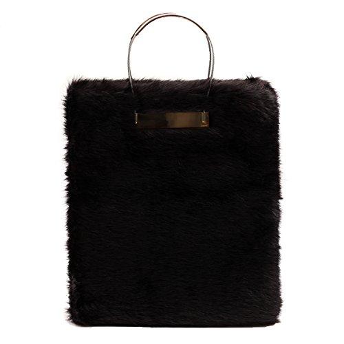 Zarapack , Sac à main pour femme noir noir Taille L bag without fox