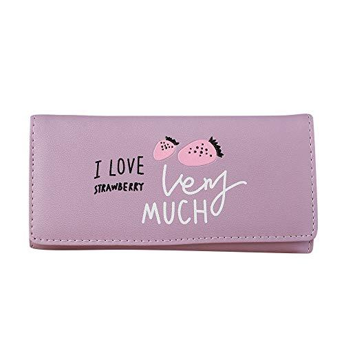 Quaan Mode Süss Frau Haspe Lange Brieftasche Münze Geldbörse Karte Inhaber Handtasche Retro Leder Halter Telefon Schlüssel Kette Geschenk elegant Party elegant zuversichtlich