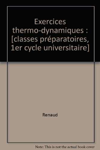 Exercices thermo-dynamiques