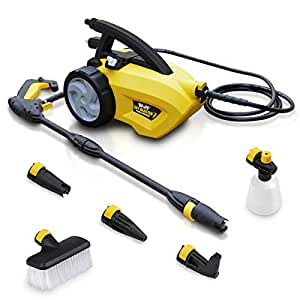 Electric Pressure Washer 1500 watt Motor 105 BAR Power Washer Car Brush Turbo, Vario, Angled Nozzle Detergent Bottle Sky Blaster - 2 Year Warranty (Washer)