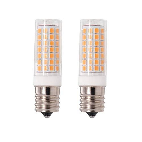 E17 LED-Birne, dimmbar, E17, 8 W, entspricht 75 W, Warmweiß 3000 K, 850 lm, 110 V, 120 V, 130 V, Zwischensockel, für Deckenventilator, Mikrowellen-Ofenbeleuchtung (2 Stück) warmweiß (Ge-deckenventilatoren)