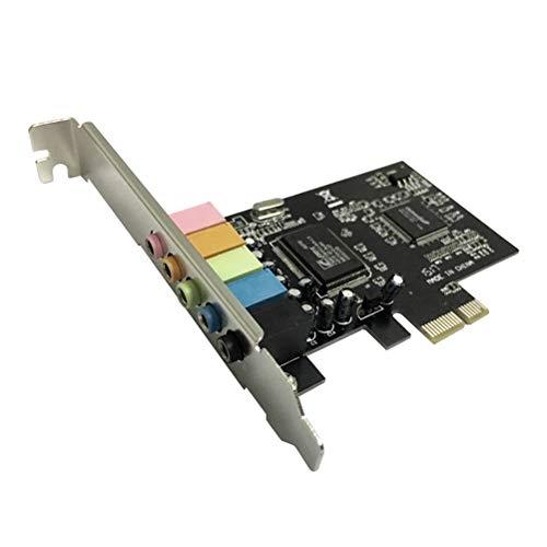 LEDMOMO PCIe zu 5.1 interne Soundkarte mit Low-Profile-Halterung 5 Schnittstellen 6 Digitale Sound