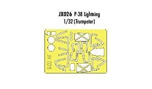 Eduard Accessories - JX026 Kit de Accesorios para modelar P-38J- Lightning