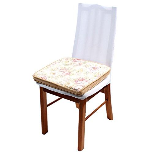 sourcingmap Polyester Blumenmuster Quadrat Rückenschutz Stuhlkissen Auflagen 16 x 16 Zoll DE