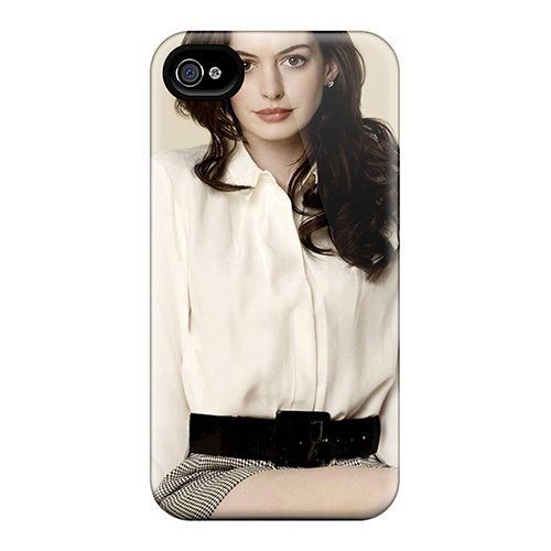 Tpu Purecase Shockproof Scratcheproof Anne Hathaway Hard Case Cover For Iphone 4/4s