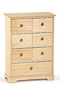 mini commode commode en bois commode avec 7 tiroirs. Black Bedroom Furniture Sets. Home Design Ideas