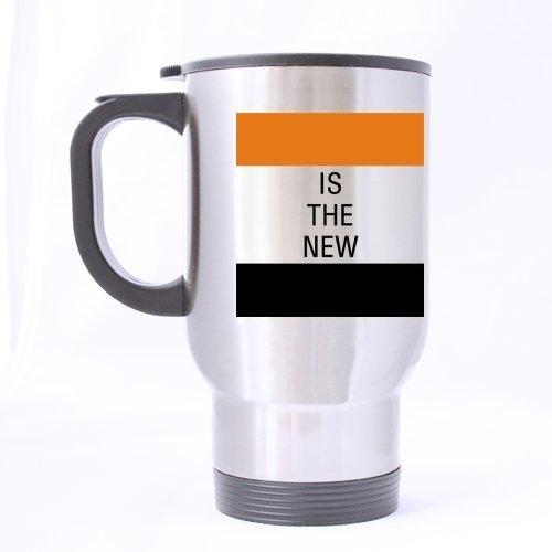 Modern Orange Is the New Black Travel Mug (Silver)-14 ounces by Orange Is the New Black Mugs