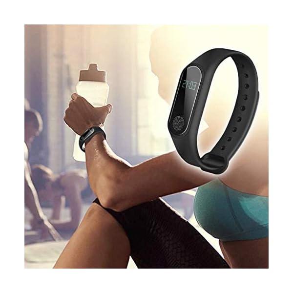 GerTong Fitness Pulsera de seguimiento de actividad con monitor cardíaco, banda inteligente M2, resistente al agua… 5
