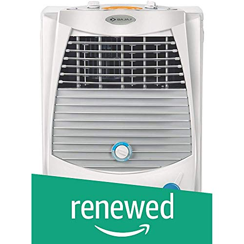 (Renewed) Bajaj PC2000 DLX 15 Ltrs Room Air Cooler (White) - for Medium Room