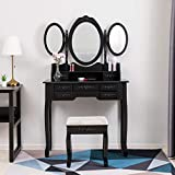 mecor Modern Coiffeuse Table de Maquillage en MDF avec 7...