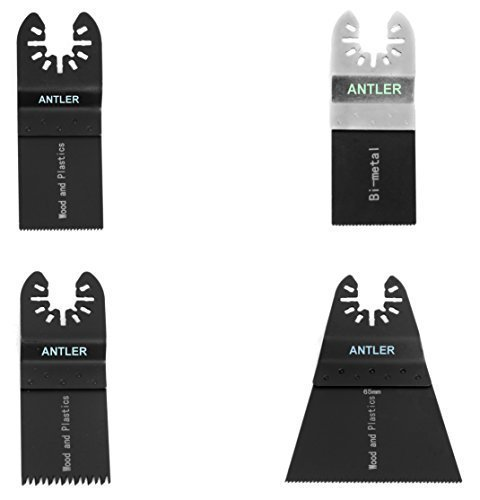 4 Antler Kliinge Kombination A Dewalt Stanley Worx F30 Erbauer Black & Decker Pendel Multifunktionswerkzeug QAB4CBA