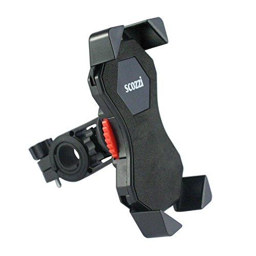 scozzi Fahrrad Halter für [LG Q8 Q7 Q6 Q V30 V20 V10 K30 K20 K11 K10 K8 K5 K4 G7 G6 G5 G4 G3 G2 G X Power 2 cam Screen V35 V30S Nexus 5 5 | ThinQ Fit One SE Dual S Mini Plus + mehr] Lenker Halterung