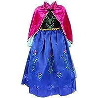 ELSA & ANNA® Princesa Disfraz Traje Parte Las Niñas Vestido (Girls Princess Fancy Dress) ES-DRESS308-SEP (3-4 Años, ES-SEP308)