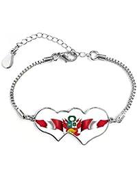 699a871409e5 DIYthinker Cadena Cubic-Corte Redondo de Las Mujeres Pulsera