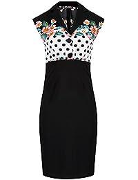 e79ee9083255 Amazon.fr   jupe crayon taille haute pin up - Robes   Femme   Vêtements